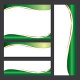Design för beståndsdel för grönt kort för mall Arkivbild