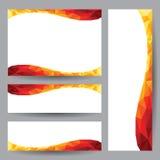 Design för beståndsdel för mallkort orange Royaltyfria Bilder