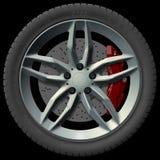 Design för bilhjul stock illustrationer