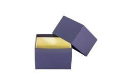 Design för blå ask för packe Fotografering för Bildbyråer