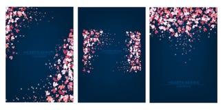 Design för blått för vektorillustrationhjärta fastställd Royaltyfri Foto