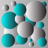 Design för blått- och grå färgbollbakgrund Royaltyfria Bilder
