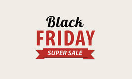 Design för Black Friday försäljningsinskrift Royaltyfri Fotografi