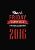 Design för Black Friday försäljningsinskrift Royaltyfri Bild
