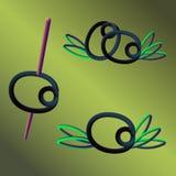 Design för Blackolive populär trendlogo vektor illustrationer