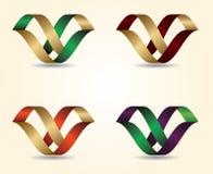 Design för bokstav för vektorillustration 3D Arkivfoto