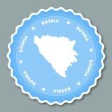 Design för Bosnien och Hercegovina klistermärkelägenhet royaltyfri illustrationer