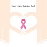 Design för bröstcancermedvetenhetlogo Bröstcancermedvetenhet måndag Fotografering för Bildbyråer