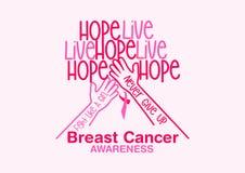 Design för bröstcancermedvetenhetvektor vektor illustrationer