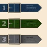 Design för brevpapper för bältebuckla Arkivfoton
