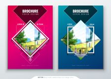 Design för broschyrmallorientering Årsrapport för företags affär, katalog, tidskrift, reklambladmodell Idérikt modernt vektor illustrationer