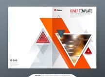 Design för broschyrmallorientering Årsrapport för företags affär, katalog, tidskrift, reklambladmodell Idérikt modernt royaltyfri illustrationer