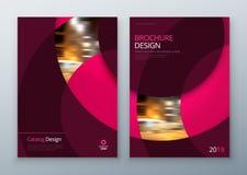 Design för broschyrmallorientering Årsrapport för företags affär, katalog, tidskrift, reklambladmodell Idérikt modernt stock illustrationer