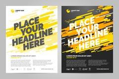 Design för broschyrorienteringstemplat vektor illustrationer