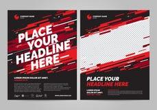 Design för broschyrorienteringstemplat stock illustrationer