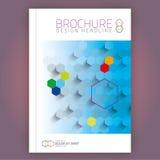 Design a4 för broschyrvektormall arkivbilder