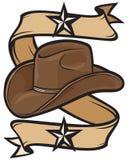 Design för Cowboyhatt stock illustrationer