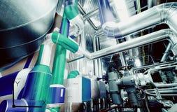 Design för dator CAD av rörledningar för moderna industriella maktplommoner Fotografering för Bildbyråer