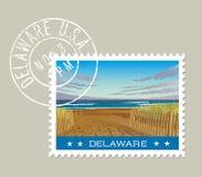 Design för Delaware portostämpel också vektor för coreldrawillustration