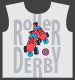 Design för derby för rullskridsko och rullgrafisk Royaltyfri Foto