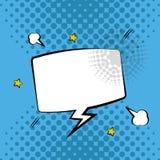 Design för dialog för anförande för bubbla för popkonst royaltyfri illustrationer