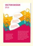 design för din broschyr Arkivfoto