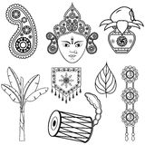 Design för Dussehra garnering Royaltyfri Bild