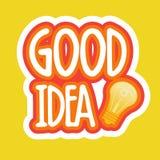 Design för emblem för meddelande för nätverk för massmedia för bra idéklistermärke social vektor illustrationer
