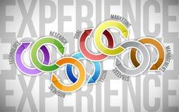 Design för erfarenhetscirkuleringsillustration Fotografering för Bildbyråer