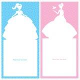 Design för födelsedagprinsessakort Royaltyfria Foton