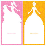 Design för födelsedagprinsessakort Royaltyfria Bilder