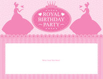 Design för födelsedagprinsessakort Royaltyfri Bild
