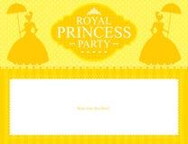 Design för födelsedagprinsessakort Royaltyfri Foto