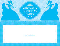Design för födelsedagprinsessakort Royaltyfri Fotografi
