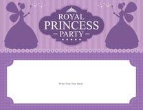 Design för födelsedagprinsessakort Fotografering för Bildbyråer