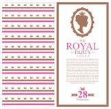 Design för födelsedagprinsessakort Arkivfoton