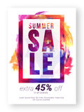 Design för för för sommarSale affisch, baner eller reklamblad Arkivfoton