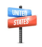 Design för Förenta staterna vägmärkeillustration Royaltyfri Bild
