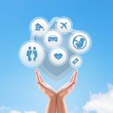 Design för försäkringservice royaltyfria foton