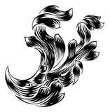 Design för filigran för heraldiksnirkel blom- Arkivfoton