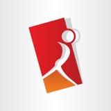 Design för flickadanssymbol Arkivfoton