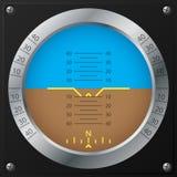 Design för flygplaninställningindikator Arkivfoto