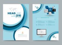 Design för format för mall A4 för reklamblad för broschyr för räkningsårsrapportbroschyr vektor illustrationer