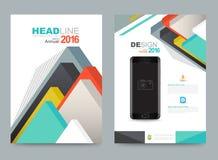 Design för format för mall A4 för reklamblad för broschyr för räkningsårsrapportbroschyr stock illustrationer
