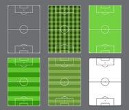 Design för fotbollfält Fotografering för Bildbyråer