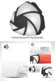 Design för fotografimalllogo Arkivbilder