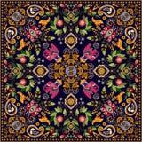 Design för fyrkantfacket, sjal, textil royaltyfria bilder