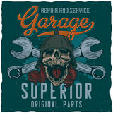 Design för garageförlaget-skjorta etikett Royaltyfri Foto