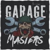 Design för garageförlaget-skjorta etikett Fotografering för Bildbyråer
