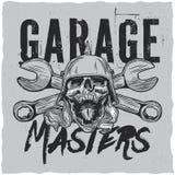Design för garageförlaget-skjorta etikett Arkivfoton